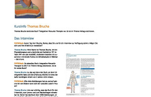 Interview Thomas Brucha bei Physiotalk
